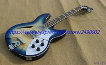 Best Electric guitar chrome parts, 12 string,Ricken style,blue burst center yellow,R tail.high quality.Real photo shows(China)