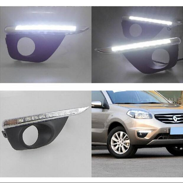 Hireno Super-bright LED Daytime Running Light for Renault Koleos 2012 2013 2014 Car LED DRL fog lamp 2PCS<br><br>Aliexpress