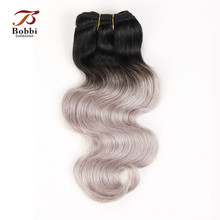 3 Bundles Brazilian Body Wave Two Tone T 1B White Grey Ombre Hair Weave Bundles Brazilian Human Hair Extension Bobbi Collection(China)