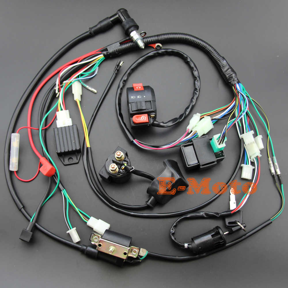 detail feedback questions about full electrics wiring harness coil