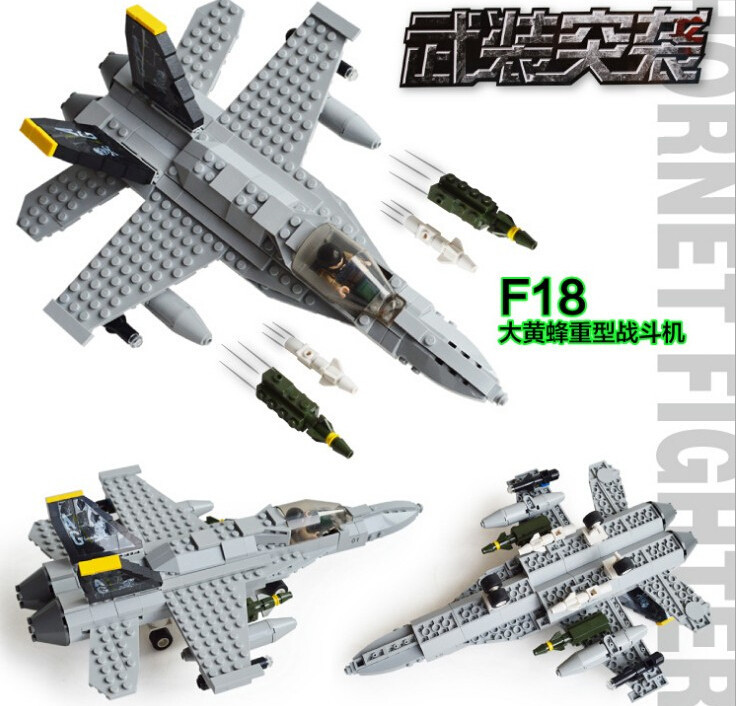 284pcs GUDI 6018 Assembled Block F18 Fighter F18 Bumblebee Heavy Fighter Missile Childrens Toys Gifts<br><br>Aliexpress