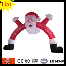 High quality Christmas happy santa inflatable arch for decoration Christmas holiday party factory price and free shipping(China)