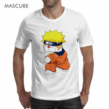 MASCUBE Funny Summer Tee Top Doraemon Cosplay Naruto Novelty Design Custom T-Shirt Homme O Neck Size S-3XL Casual T Shirt