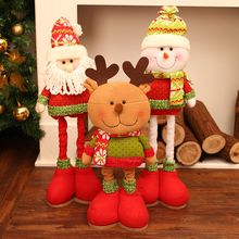 Happy Event Santa Claus Snowman Elk Table Christmas Decoration For Home Kids Lovely Scalable Doll Family Christmas Decorations