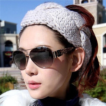 1Pc Hot Sale Solid Hand-woven Holiday Gifts Manual Knitting Wool Twist Braid Wide Hairband Handband