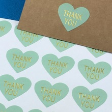 "300PCS/Lot heart Printed on the is""THANK YOU"" labels Sticker Labels paper Labels sealing Stickers packaging For Jewelry/Box"