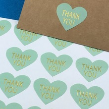 "300PCS/Lot heart Printed on the is""THANK YOU"" labels Sticker Labels paper Labels sealing Stickers packaging For Jewelry/Box(China)"
