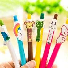 50 pcs/lot Cheap Cute Rainbow Cartoon Ballpoint Ball Point Promotional Pen South Korea Office School Stationery Press Pen Gifts(China)