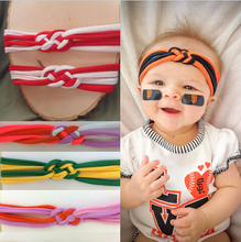 2015 New 10pcs/lot Two Tone Knot Braid girls Headbands Sailor Knot Jersey Headband Kids Tuban Headwrap Photo Prop