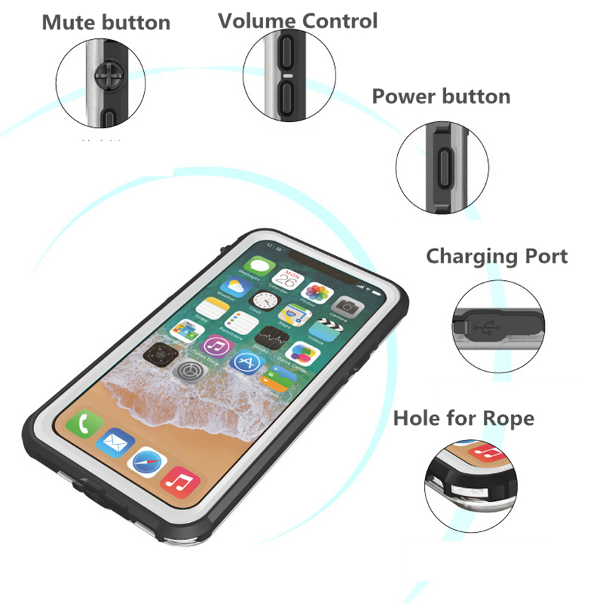 for iphone X waterproof case (28)