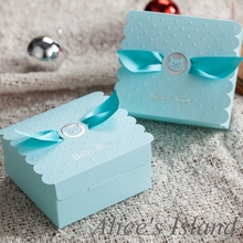 50pcs/lot Cute Baby Shower Favor Boxes Baby Shower Gift Bags Candy Boxes Party Favor Box Pregnancy Announcement