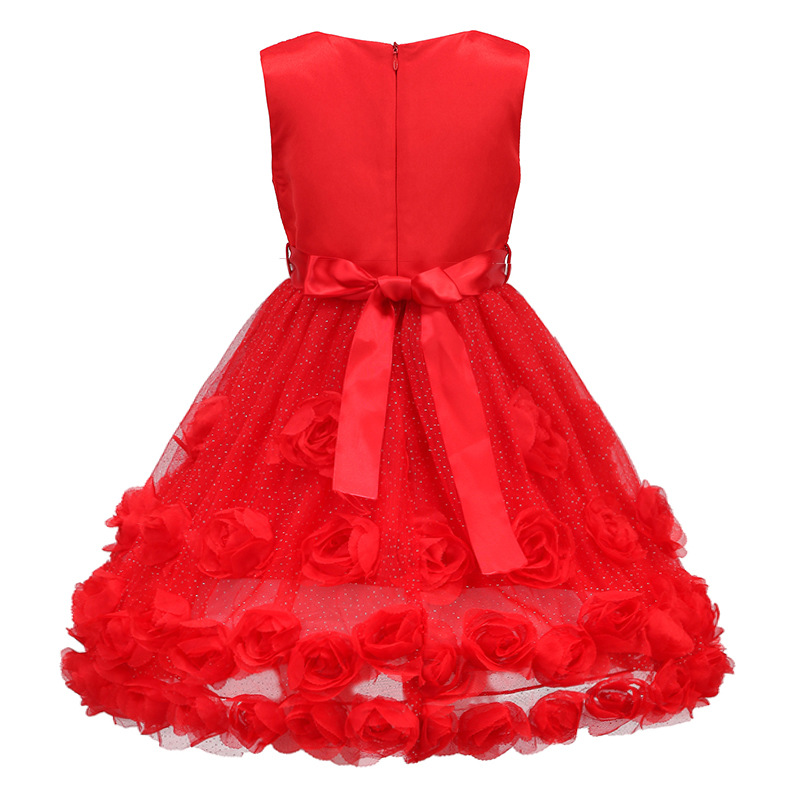 Brand New Baby Girls Dress Children Kids Dress Girls 3-11T Outfits Summer Dresses For Girls Evening Party Formal Wear Birthday<br>
