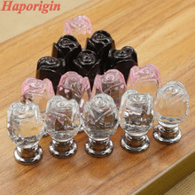 3x 20mm K9 Crystal Cabinet Drawer Knobs Glass Dresser Cabinet Pulls Crystal Wardrobe Cupboard Handle Closet Shoes Box Bars Pulls
