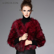 2017 New Real Fur Coats Raccoon Dog Fur Casual Short Jacket Outerwear Fashion Winter Warm Feminino Natural Raccoon Fur Waistcoat