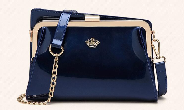 Glossy Messenger Bags for Women 2018 New Ladies Crossbody Chain Bags Female Patent Leather Handbag Mini Bag for Girls C073<br>