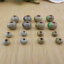 6mm clay oval ice crack ceramic beads scattered folk style retro DIY jewelry accessories wholesale 01204
