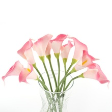 Peony Silk Flower Home Decor party Calla Lily Artificial Flower PU Real Touch Flowers Wedding Bouquet Decorative Flower