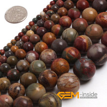 "Round Picasso Jaspe r Beads,Selectable Size 4mm To 16mm,Natural Stone Beads,Fashion DIY Beads,Strand 15"" Free Shipping"