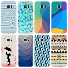 97F Umbrella Penguin Pattern Transparent Hard PC Case Cover For Samsung Galaxy Note 3 4 5 S 3 4 5 6 7 Mini Edge Plus