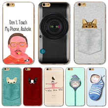 TPU Cover For Apple iPhone 4 4S 5 5S SE 5C 6 6S 6Plus 6S+ Case Meaningful Picture Camera Calculator Mobile Phone High Quality(China)