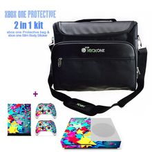 Game Accessories Travel Carrying Bag Shoulder Bag for Xbox One & Slim Console + One Set of Xbox One Console Skin Sticker(China)