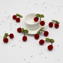 5PCS / lot mini fake meadow fruit small berries artificial flower red cherry stamens wedding christmas decoration