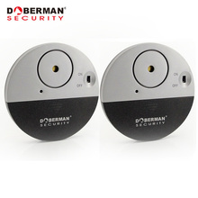 Doberman Security Door Window Vibration Alarm for Warning Burglars Intruders 2Pcs Pack Home Alarm 100dB Strong Alarm Sound(China)