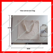 (100 pieces/lot) Wholesale blank canvas tote bag with custom logo for promotion and shopping(China)