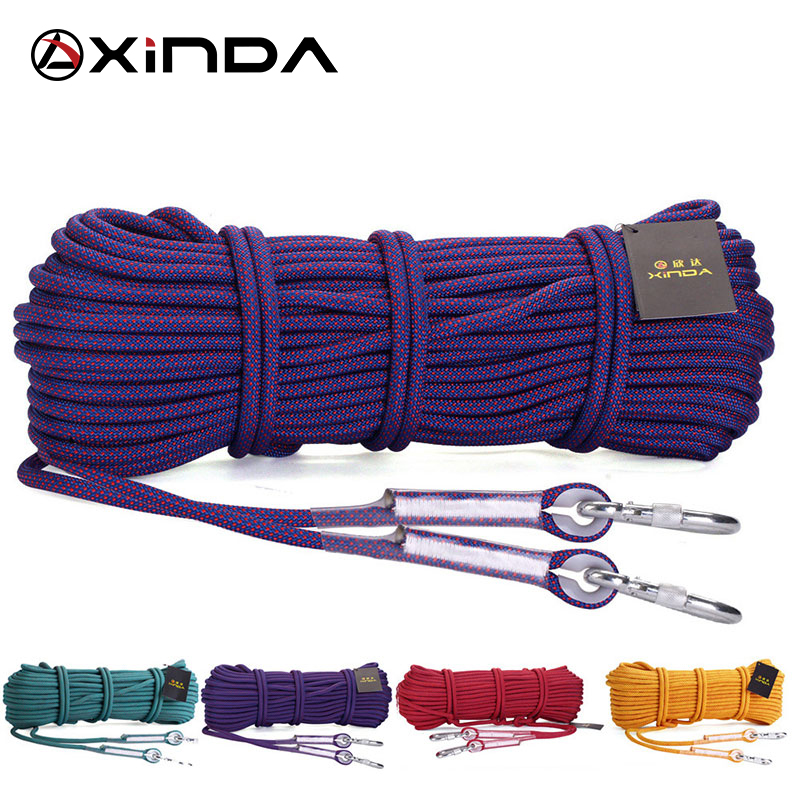 XINDA Escalada 10M Professional Rock Climbing Rope Rappelling 10.5mm Diameter 25KN High Strength Cord Safety Rope Survival Rope(China)