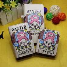 Cartoon Anime One Piece Card Holder Tony Chopper Men Women Wallet Short/Medium/Long Style Pures Student Wallets