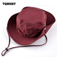 TQMSMY adjustable hats for women's Beach caps Quick-drying men Bucket Hat Unisex Summer Panama bone girls Anti-UV Fishings cap(China)