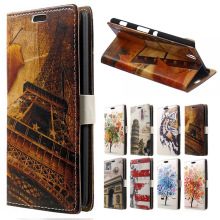 Sony Xperia C4 Case Tower & Maple Leather Wallet Flip Cover Dual E5306 Mobile Phone Bags Cases Coque - Caiy-tan Store store