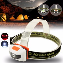 New 4 Modes Headlamp 600LM Mini Super Bright Headlight R3+2LED white red Head Lamp Torch Light For 3xAAA battery