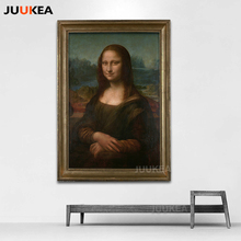 Classic Oil Painting Leonardo Da Vinci The Mona Lisa Smile Canvas Print Painting 78x118cm Wall Picture Living Room Home Decor(China)