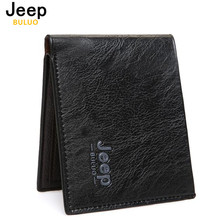 JEEP BULUO Famous Brand Men Wallets Men's Short Money Purses Pu Leather Wallets New Design Dollar Price Top Men Thin Wallet W002