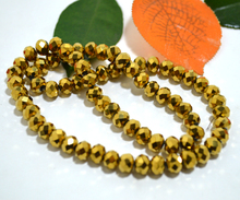5040 AAA Gold Plate Color Loose Crystal Glass Rondelle beads.2mm 3mm 4mm,6mm,8mm 10mm,12mm Free Shipping!