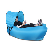 Multifunction Inflatable sofa lazy sleeping bag portable with shade outdoor fast inflatable sofa bed living room sofa(China)