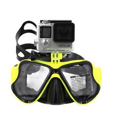 Scuba Diving Mask Snorkel Swim Googles Glasses with Storage Case FOR Go Pro Hero 5 4 3, Camera Accessories(China)