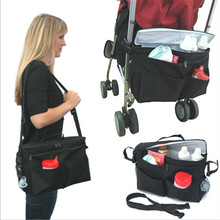Baby All-in-One Insulated Stroller Bag Converts to Stroller Organizer or Shoulder on the Go