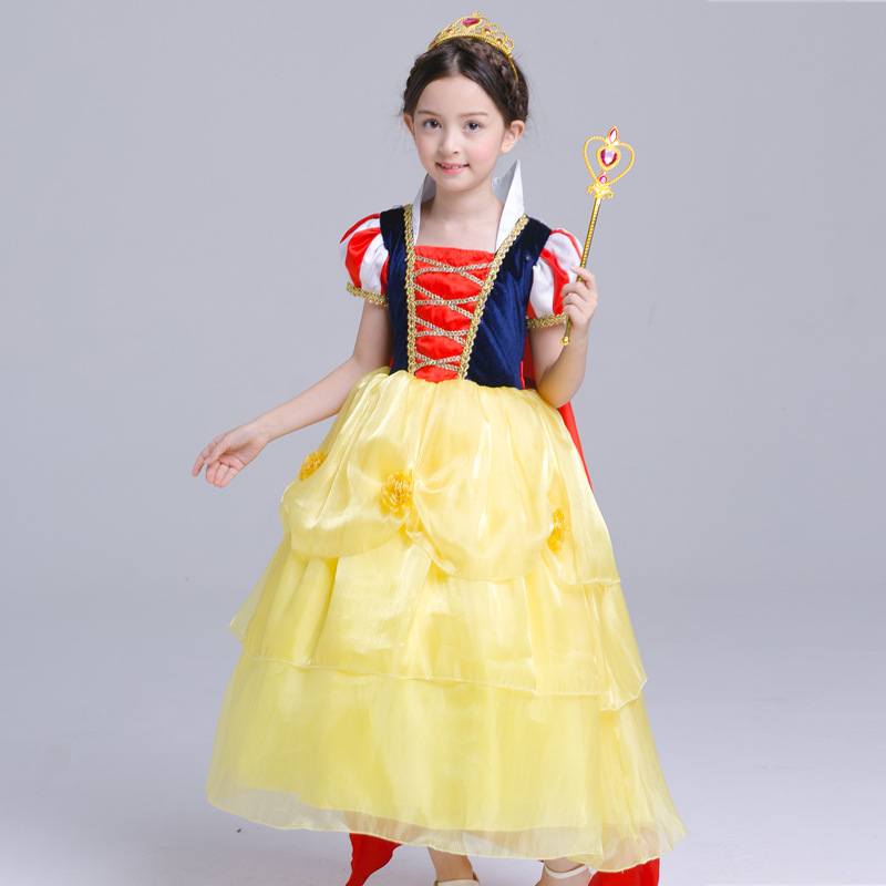 S1699 New Fashion 2017 Girl Clothing Children Girls Dress  Halloween Snow White Costume Princess Dress<br>