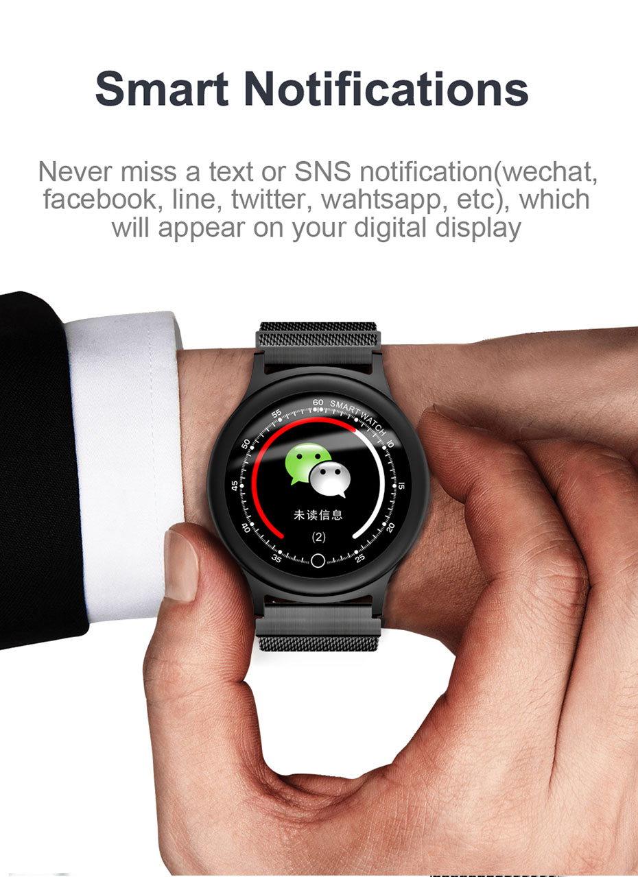 COLMI Fashion Smart watch Round Screen Clock IP68 Waterproof Men Fitness Activity Tracker Bluetooth Women Smartwatch For Android IOS _11
