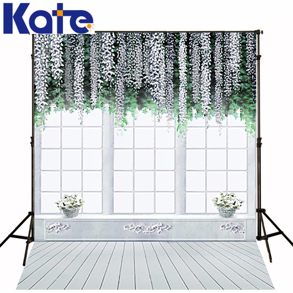 300Cm*200Cm(About 10Ft*6.5Ft) Backgroundswindows Hanging Plants Photography Backdropsthick Cloth Photography Backdrop 3532 Lk<br>