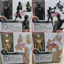 6 Types Body  SHFiguarts PVC Action Figure Body chan Body kun DX SET Figma He She Solid Black Pale Orange Gray Ver In Box