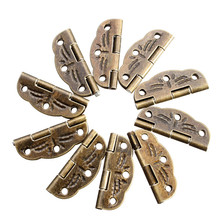 10 PCs Door Butt Hinges Alloy rotated from 0 degrees to 280 degrees Antique Bronze 30mm x22mm Tool Parts(China)