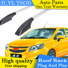 D_YL car styling for the new Chevrolet Sail hatchback car roof rack aluminum alloy luggage rack punch Free 1.3 meters(China)