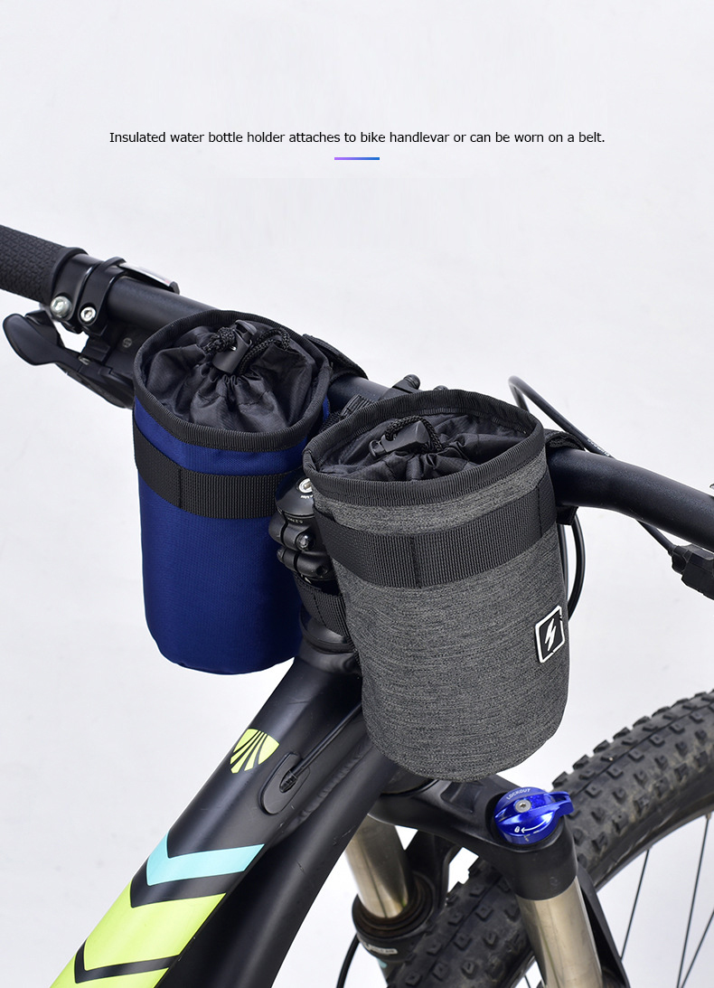 US Outdoor Cycling Sports Water Bottle Holder Bike Stem Bag Kettle Carrier Pouch
