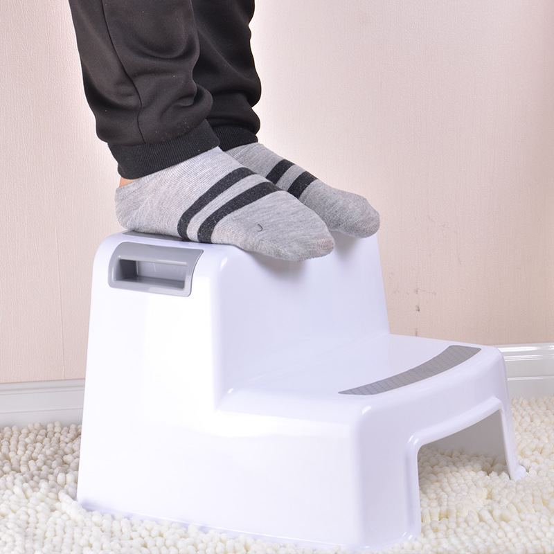 High quality plastic children stool kindergarten baby hand wash footstool anti-skid climbing stairs stool<br>
