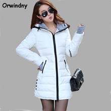 Orwindny Wadded Clothing Female 2017 New Women's Winter Jacket Cotton Jacket Slim Parkas Ladies Coats XS-XXL