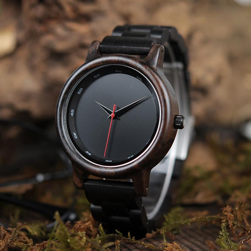 BOBO BIRD Male High Quality wrist Watch Bamboo Wooden Watches Men in gift box custom logo erkek kol saati 2