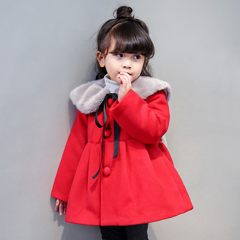 2017 Autumn And Winter Red Jackets Girl Coat Childrens Garment Will Special Jacket  Одежда и ак�е��уары<br><br><br>Aliexpress